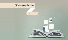 Copie de Literature Lesson