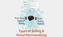 Types of Selling &