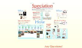 Unit 8 Prezi 5 Speciation