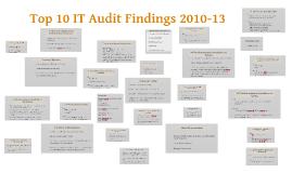 Top 10 IT Audit Findings