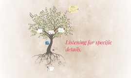 Copy of Listening for specific details.
