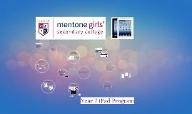 2016 iPad Program @ M.G.S.C.