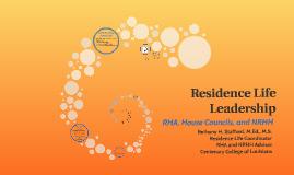 Residence Life Leadership