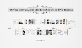 """Of Mice and Men"", John Steinbeck: Context and Pre-Reading"