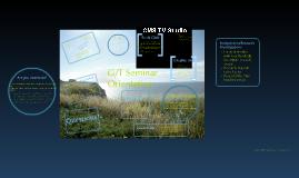 G/T Seminar Orientation
