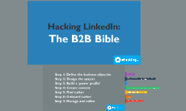 Hacking LinkedIn: The B2B Bible