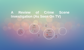 A Review of Crime Scene Investigation (As Seen On TV)