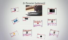 It-Termini Letterarji