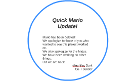 Quick Mario Update!