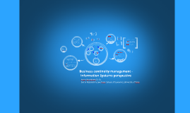Business continuity management - IS perspective