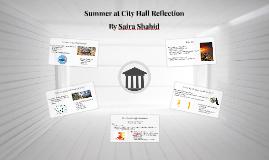 Summer at City Hall Reflection