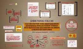 FAKTOR-FAKTOR YANG MEMPENGARUHI KETAHANAN PANGAN RUMAH TANGG