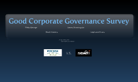 Copy of Good Corporate Governance Survey