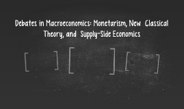 Debates in Macroeconomics:Monetarism, New Classical Theory