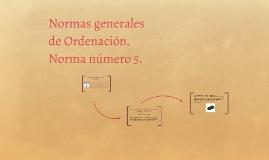 Norma de Ordenación