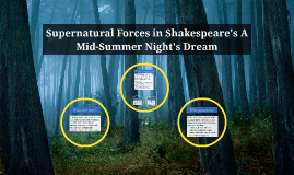 Supernatural Forces in Shakespeare's A Mid-Summer Night's Dr