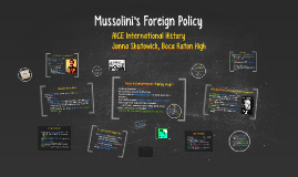 Copy of Copy of Mussolini's Foreign Policy