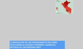 CLASIFICACIÓN DE LOS DEPARTAMENTO DEL PERÚ