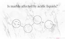 Is marble affected by acidic liquids?