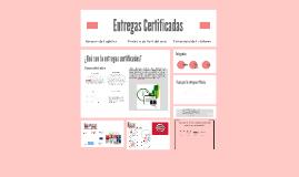 Copy of Entregas Certificadas