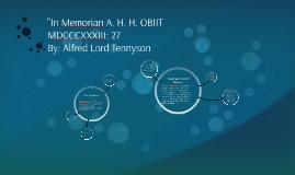 """""""In Memorian A. H. H. OBIIT MDCCCXXXIII: 27"""