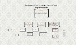 Professional development - three different employers report
