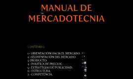 Manual de mercadotecnia
