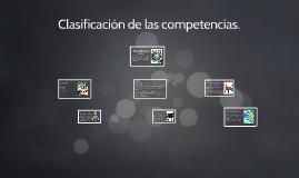 Clasificación de las competencias.