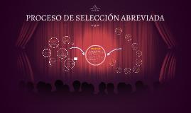 PROCESO DE SELECCION ABREVIADA
