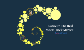 Satire In The Real World: Rick Mercer