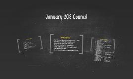 January 2018 Council