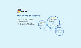 Manómetro de Tubo en U