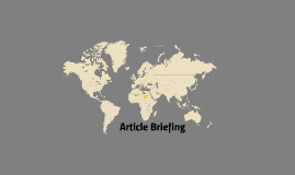 Article Briefing