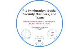 F-1 Immigration, SSN, and Taxes: What you need to know to stay in status, get paid, and do your taxes