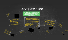 Literary Terms - Notes