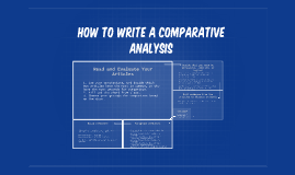How to Write a Comparative Analysis