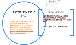 HUKUM WARIS DI BALI