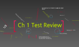 Ch 1 Review