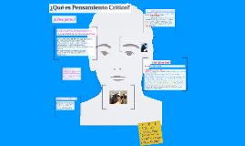 ¿Qué es Pensamiento Crítico?