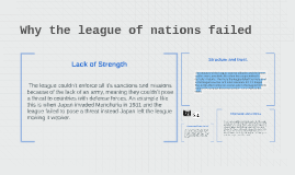 Why the league of nations failed
