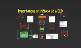 Copy of Importancia del Metodo de WEED