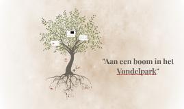 """Copy of """"Aan een boom in het Vondelpark"""""""