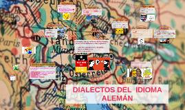 DIALECTOS DEL  IDIOMA ALEMÁN