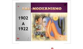 Pré - Modernismo 2017
