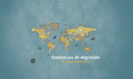 Tendencias de migración