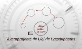 Avantprojecte de Llei de Pressupostos