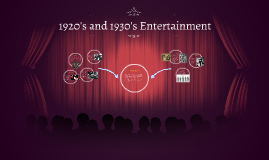 1920's and 1930's Entertainment