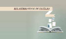 RELATÓRIO FINAL DE ESTÁGIO