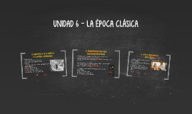 UNIDAD  - LA ÉPOCA CLÁSICA