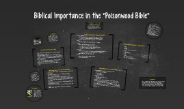 "Copy of Biblical Importance in the ""Poisonwood Bible"""
